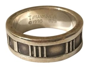 Tiffany & Co. Authentic Tiffany & Co Size 4 Wide Atlas Sterling Silver Ring .925