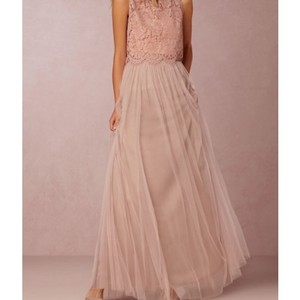 BHLDN Whipped Apricot (Top) / Rose Quartz (Skirt) Lace / Tulle Feminine Bridesmaid/Mob Dress Size 8 (M)
