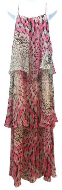 Item - Printed Tiered Silk It 40 Long Casual Maxi Dress Size 6 (S)