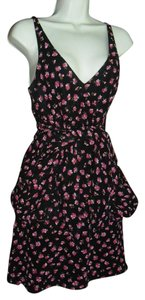 bebe short dress black pink on Tradesy