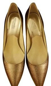 Michael Kors Metallic Nickel Pumps