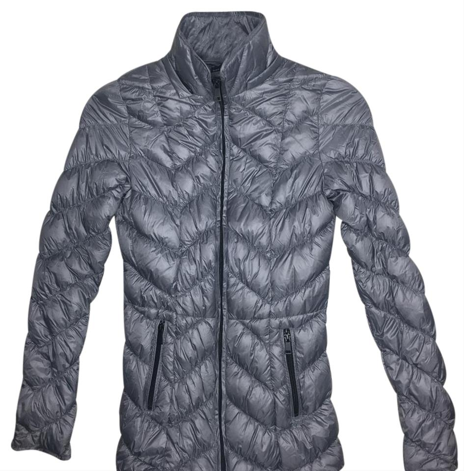 7b1bc6fccf Saks Fifth Avenue Quick Silver Quilted Down Puffer Jacket Coat Size ...