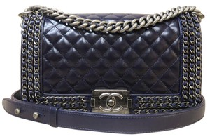 Chanel Le Boy 2016 Like New Quilted Shoulder Bag