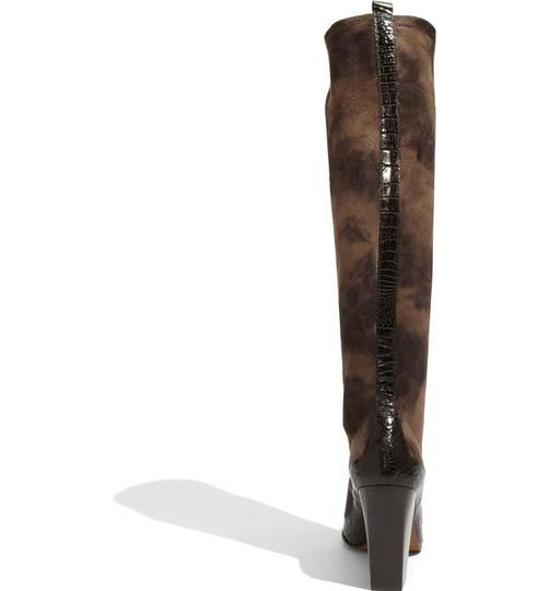 Donald J. Pliner Suede Size 8 Knee High Brown Espresso Boots