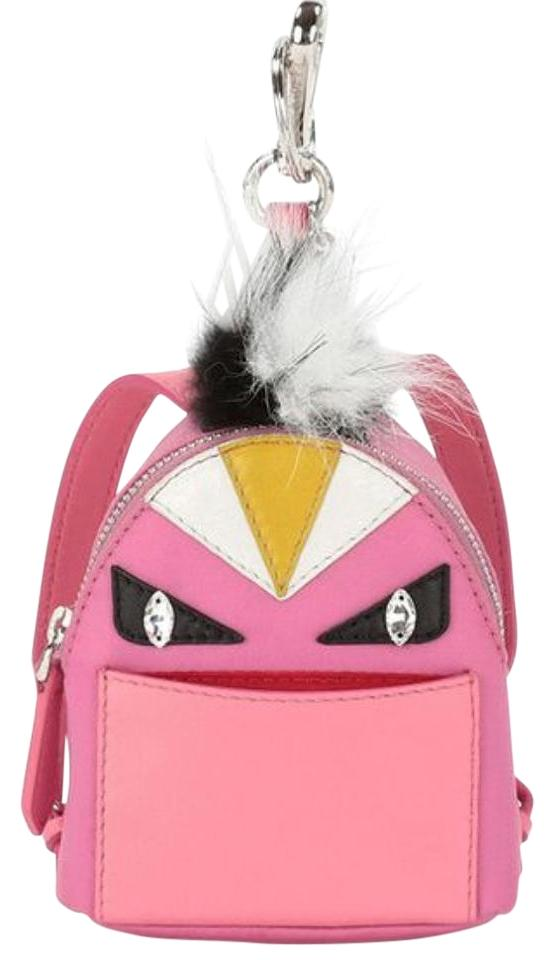 11f09ab5e046 Fendi Micro Bug Monster Key Chain Charm Pink Backpack - Tradesy