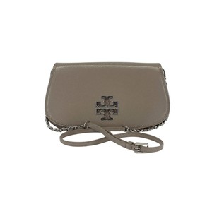 Tory Burch Taupe Patent Leather Cross Body Bag