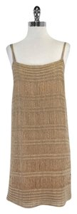 Missoni short dress Gold Tan Knit Sleeveless on Tradesy