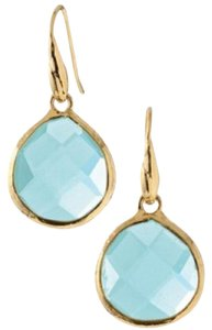 Stella & Dot Serenity Small Stone Drop Earrings - Aqua