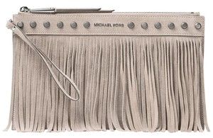 Michael Kors Michael Kors Billy Clutch Extra Large Fring Cement NWT