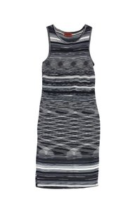 Missoni Black & White Sleeveless Knit Bodycon Dress