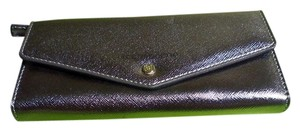 Liz Claiborne Liz Claiborne Faux Saffiano Leather Wallet in Pewter NWT