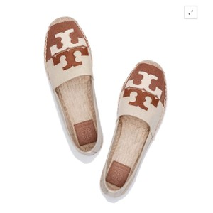 Tory Burch Natural/Royal Tan Flats