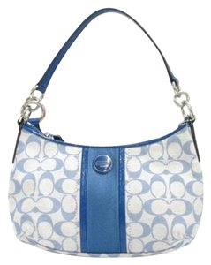 Coach Signature Fabric Leather Shoulder Bag