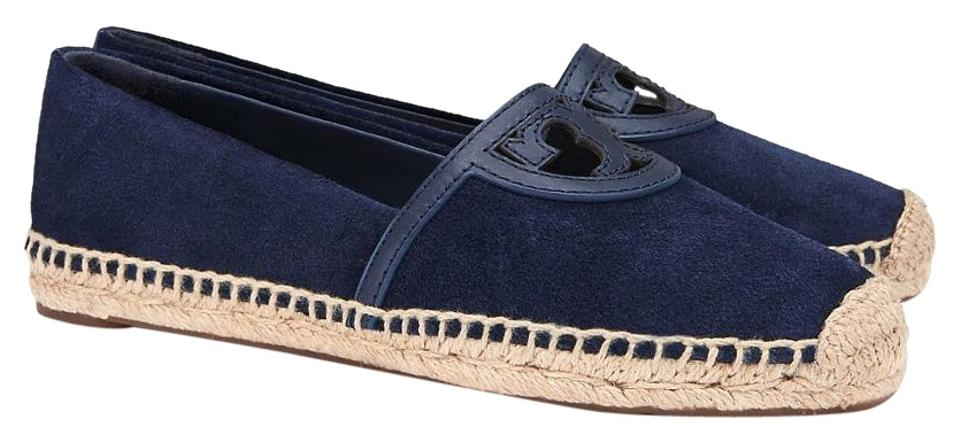 39095cd8195 Tory Burch Royal Navy Sidney Suede Espadrille Flats Size US 9.5 ...