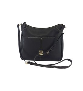 Dooney & Bourke Black Leather Crossbody Tote
