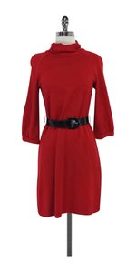 Ellen Tracy short dress Red Turtleneck Belted on Tradesy
