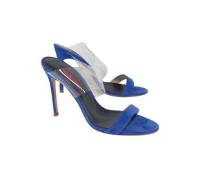 Carolina Herrera Blue Suede Sandal Heels Sandals