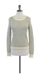 Joie Cream Silver Knit Sweater