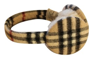 Burberry Tan Nova check Burberry cashmere earmuffs