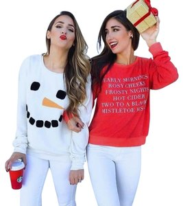 Wildfox Bbj Snowman Holidays Winter Sweater