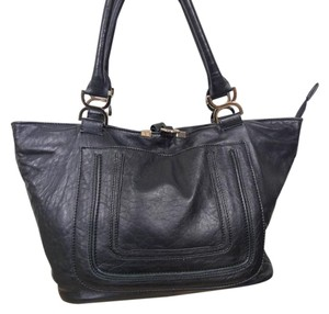 ENGS BURG Italy Leather Satchel in BLACK