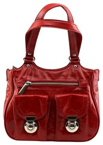 Preston & York Distressed Casual Tote in Red