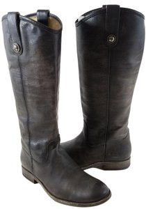 Frye Vintage Leather Knee-high Buttons Distinguish True To Size Style No. 77172 Slate Boots