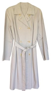 Donna Karan Designer Neutral Made In Usa Trench Classic Trench Coat