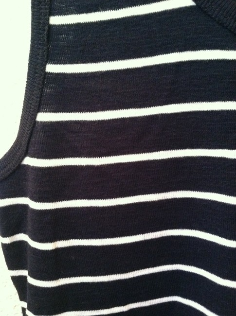 French Connection Top Blue White Stripe