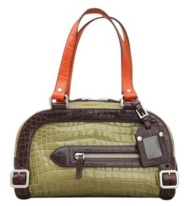 Prada Exotic Crocodile Buckles Colours Satchel in Multicolor