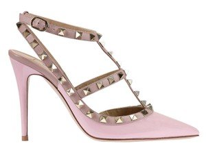 Valentino Leather Studded Pale Pink Patent 41(EU) NWT Pumps