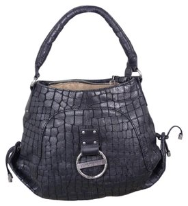 Charles David Croc Print Leather Shoulder Bag