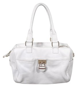 Calvin Klein Leather Satchel in white