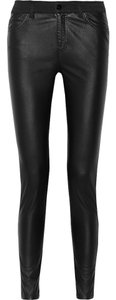 MCQ by Alexander McQueen Faux Leather High-rise Skinny Skinny Jeans-Dark Rinse