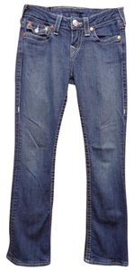 True Religion Rainbow Boot Cut Jeans-Dark Rinse