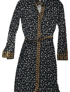 Diane von Furstenberg short dress Black multi on Tradesy