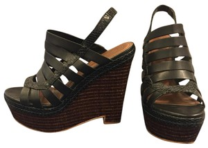 Elizabeth and James Wedge Black and brown Wedges
