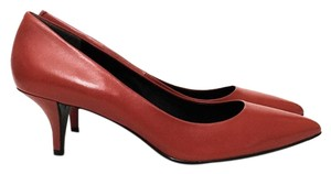 Kenneth Cole Red-Orange, Black Pumps