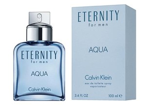 Calvin Klein ETERNITY AQUA by CALVIN KLEIN EDT Spray for Men ~ 3.4 oz / 100 ml