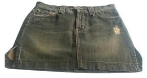 7 For All Mankind Destructed Mini Skirt