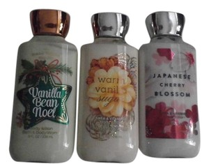Bath and Body Works 3 bath & Body Works Lotions VANILLA BEAN NOEL 8FL OZ
