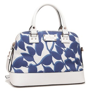 Kate Spade Small Rachelle Fabric Leather Leaves Crossbody Satchel in HYCNLEAVES
