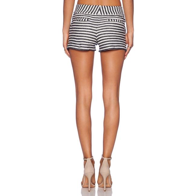 Alice + Olivia Mini/Short Shorts Navy, Cream Image 2