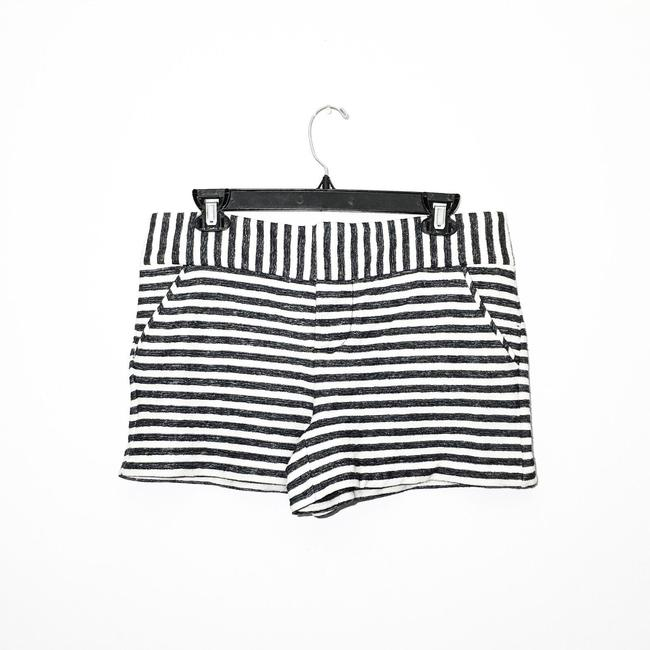 Alice + Olivia Mini/Short Shorts Navy, Cream Image 3