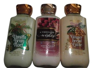 Bath and Body Works 3 bath & Body Works Lotions GINGER BREAD LATTE 8FL OZ