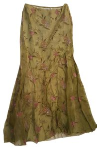 Chetta B. by Sherrie Bloom and Peter Noviello Couture Designer Vintage Maxi Skirt Green, Rose, Lilac
