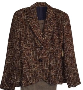 Coldwater Creek Coldwater Creek Brown Tweed Jacket and Pants