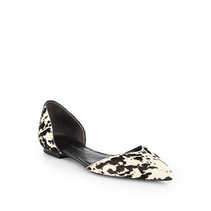3.1 Phillip Lim Calf Hair & Animal Print Black and White Flats