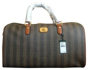Ralph Lauren Chevron Printed Brown/Tan Travel Bag