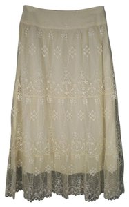 Boston Proper Lace Boho Romantic Long Maxi Skirt